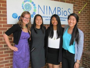 Taylor Kuramoto (right) and her research buddies