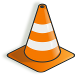 image of a construction cone to alert patrons to the construction happending at Central Lutheran Church