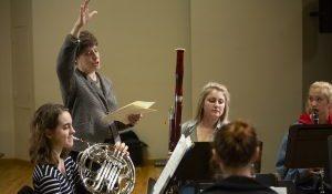 Image of Merilee Klemp coaching an ensemble
