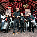 Image of Augsburg Drummers leading in Gala Guests