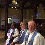 Image of Pastors Babette, Sonja and Justin at 2019 Advent Vespers Services