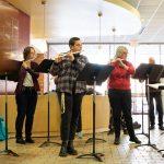 Augsburg Flute Choir performing at Velkommen Jul, 2019