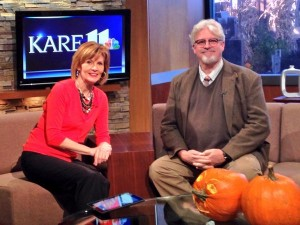 Phil Adamo on set with Diana Pierce at KARE 11.
