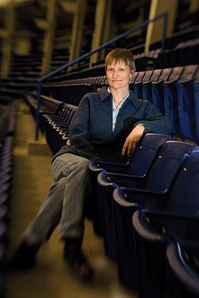 Kristin Anderson in stadium