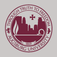 Augsburg University seal with the text Through Truth to Freedom 1869