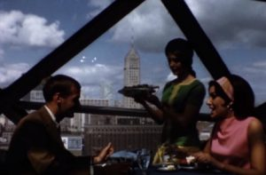 In the 1960s, young couples enjoyed going out to eat meals at restaurants.