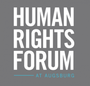 A logo of Human Rights Forum at Augsburg