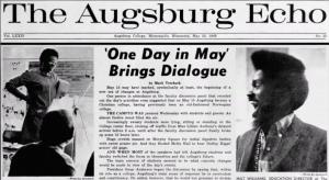 Augsburg Echo article
