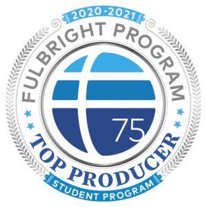 Fulbright Top Producer badge - student program