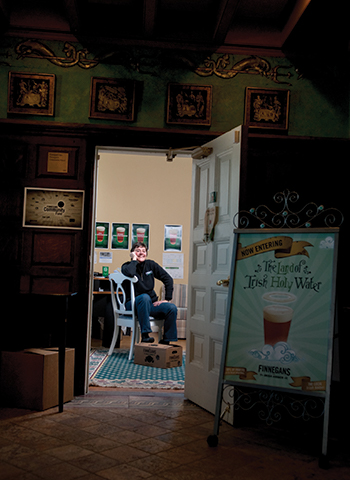 Jacquie Bergland sits in her office at Finnegan's