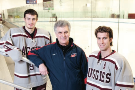 Filling their father's shoes – or skates