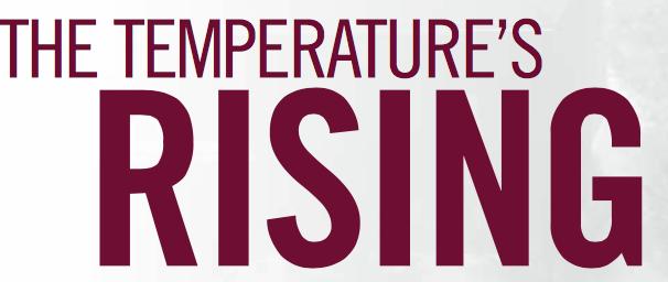 The temperature's rising