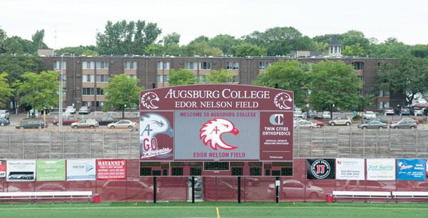 Scoreboard donations honor Edor Nelson '38