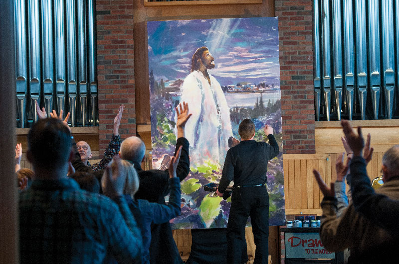 Acclaimed artist creates painting for chapel
