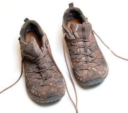 Clark trekked many miles through sometimes muddy forests in these shoes.