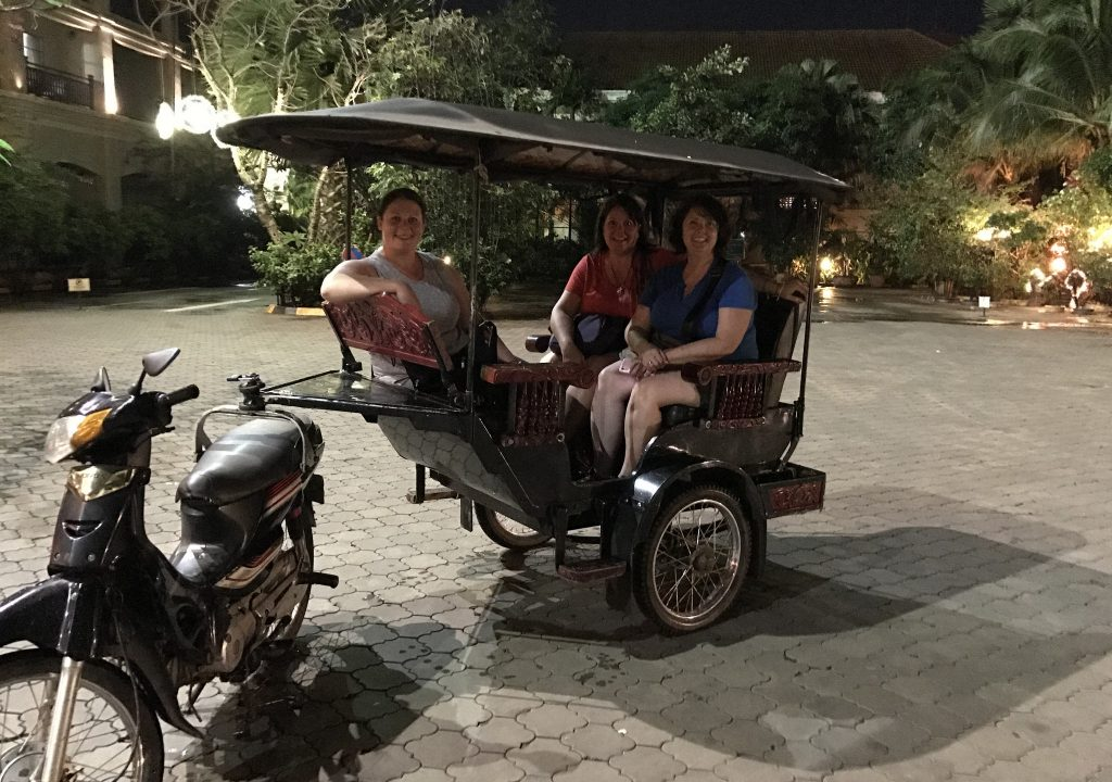 Final tuk tuk ride in Cambodia