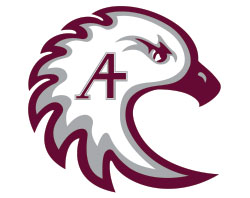 The eagle-head symbol of Augsburg College