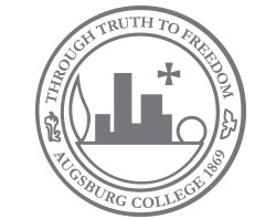 The Augsburg College seal was based on the centennial symbol