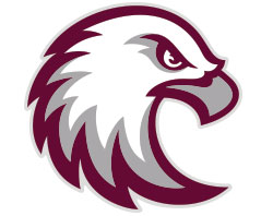 The new eagle-head symbol of Augsburg University