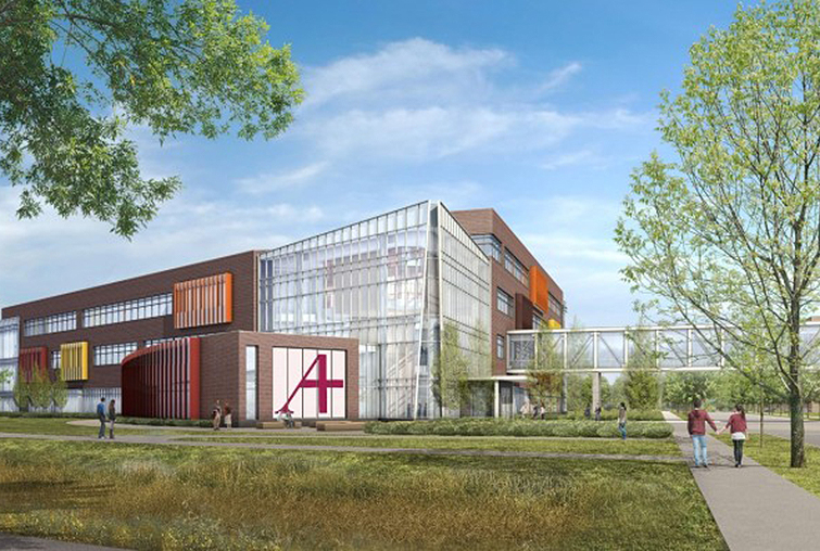 Hagfors Center rendering with trees