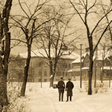 Old photo of campus in the Winter