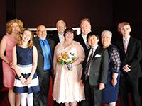 Katie Code at her wedding