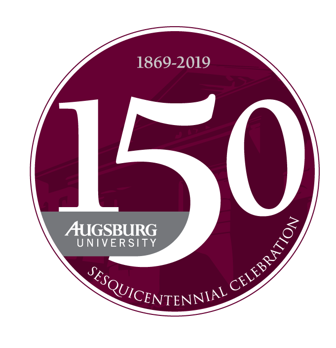 Augsburg University sesquicentennial mark