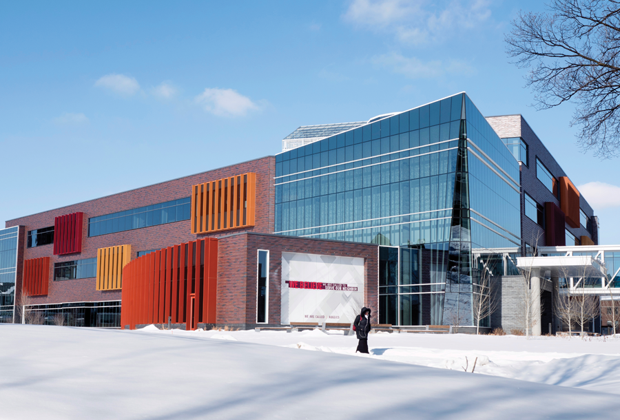 Exterior photo of the new Hagfors Center