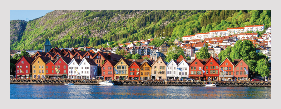 Image of a neighborhood in Norway