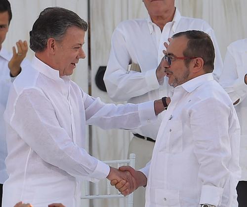 2016 Laureate, President Juan Manuel Santos of Colombia