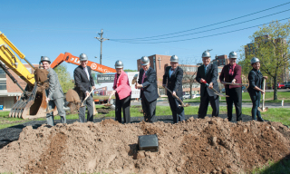 Groundbreaking for the Hagfors Center