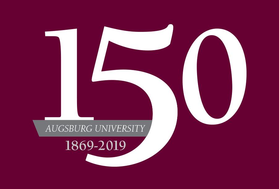 Augsburg's 150 anniversary art mark