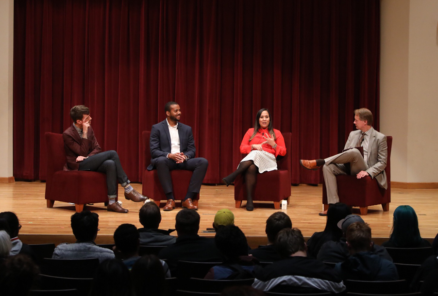 3 of the First Decade award winners panel discussion to current students