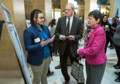 Auggie research wows at the rotunda