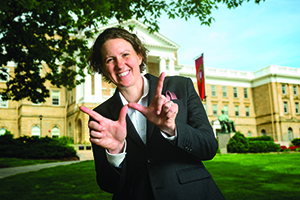 Christina Olstad, dean of students at the University of Wisconsin-Madison, is pictured on July 3, 2019. (Photo by Bryce Richter /UW-Madison)