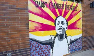 """Daddy Changed the World"" - George Floyd's daughter mural"
