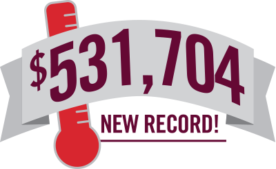 Graphic that reads $531,704 New Records!