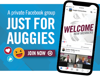 A private Facebook group just for Auggies. Be a part of live virtual events, and interact with alumni, faculty, staff, students, and university leaders. Join Now >