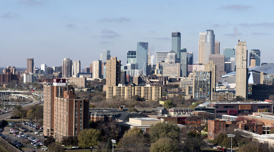 Minneapolis skyline from the east