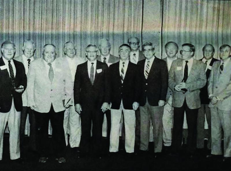 Group photo of the 1947 & 48 MIAC Championship baseball teams