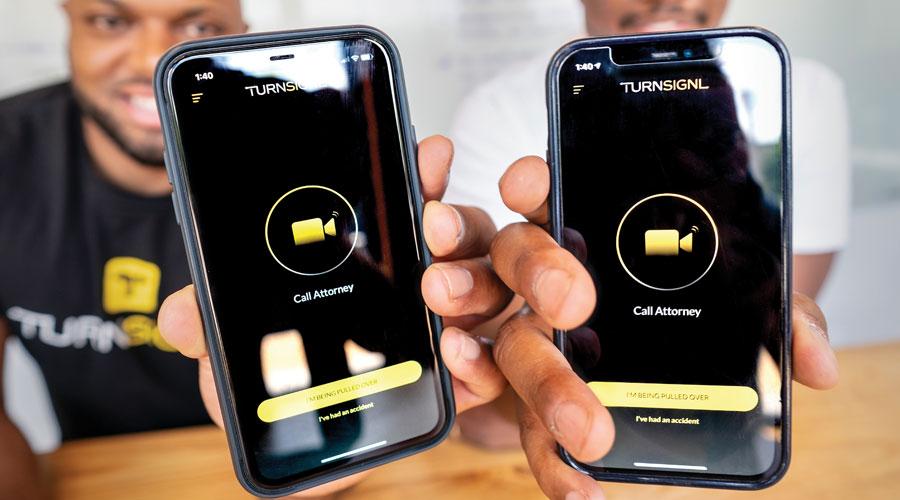 TurnSingl app shown on two phones