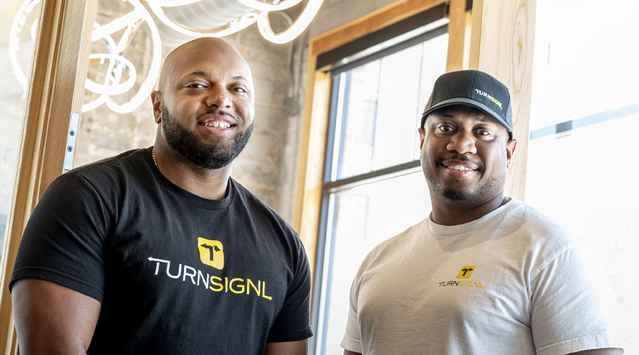 Portrait of Andre Creighton '19 MBA (left) and Mychal Frelix '19 MBA
