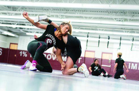 Minnesota's only varsity women's wrestling team