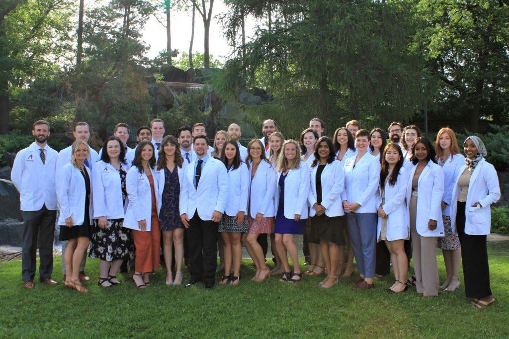PA Program Class of 2022 in white coats