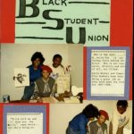 Second page of a scrapbook created by M. Anita Gay Hawthorne, 1987