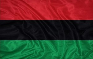 Pan-Afrikan Flag: Flag colors Red, Black and Green