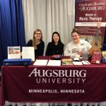 Augsburg MMT Admissions booth at AMTA conference