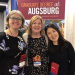 Emma Moonier, Annie Heiderscheit, and Juyoung Lee at 2019 AMTA conference