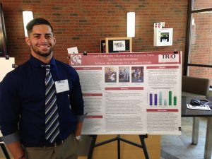 Ali Kanan at the Midwest Undergraduate Research Conference