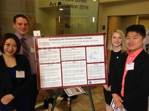 Austin Conery, Dan Zeng, Samantha Boline and Tser Cheng at the Midwest Undergraduate Research Conferenceams